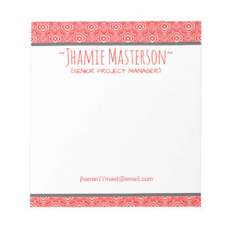 Personalized Red Peddler Notepads