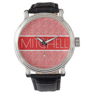Personalized Red POTP Watches