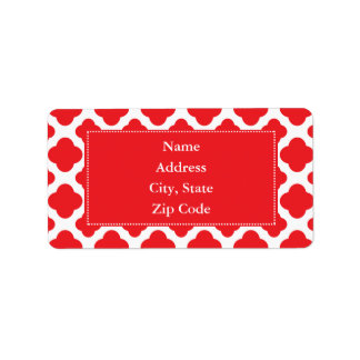 Personalized Red Quatrefoil Pattern