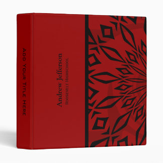 Personalized:  Red Rage Binder