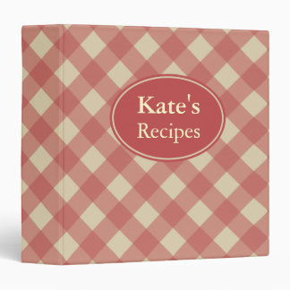 Personalized Red Recipe Cooking Binder Gift