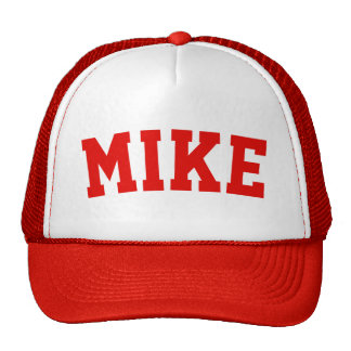 Personalized Red Short Name Trucker Hat