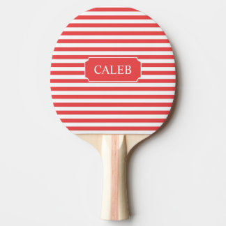 Personalized Red Stripe Ping Pong Paddle