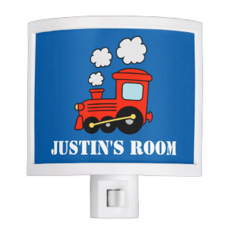 Personalized red toy train night light for kids