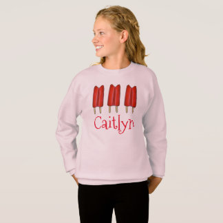 Personalized Red Twin Pop Popsicles Sweatshirt