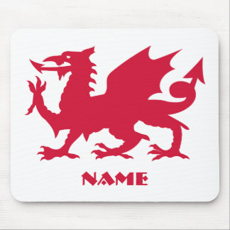 Personalized Red Welsh Dragon Mouse Pad