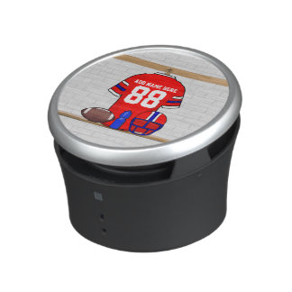 Personalized Red White Blue Football Jersey Speaker
