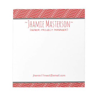 Personalized Red Z Chain Notepads