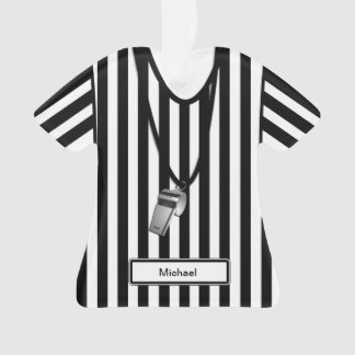 Personalized Referee with Whistle Ornament