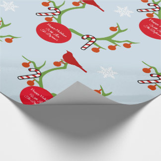 Personalized Reindeer Antlers Christmas Wrapping Paper