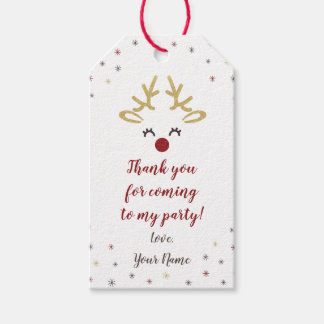 Personalized Reindeer Christmas Party Tags