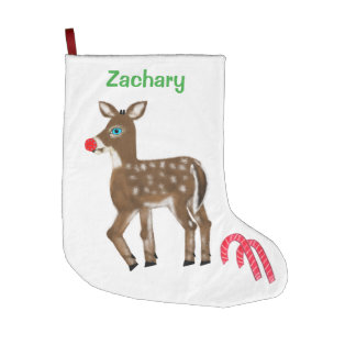 Personalized Reindeer Christmas Stockings