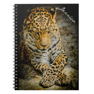 Personalized Resting Leopard Notebook