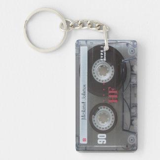 Personalized retro Cassette mix-tape Acrylic Keychains