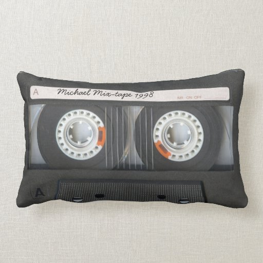 Personalized retro Cassette mix-tape Throw Pillow