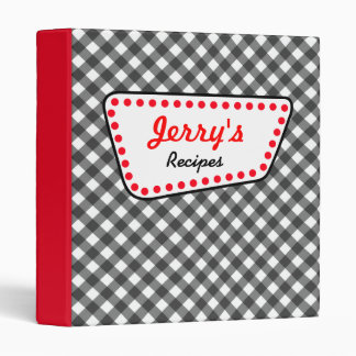 Personalized Retro Diner Recipe Binder Gift