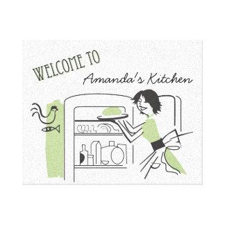 Personalized Retro Kitchen  |  Canvas Decor