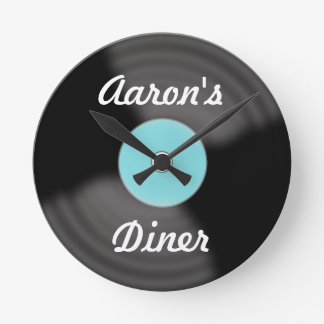 Personalized Retro Vinyl Record Wall Clock Gift