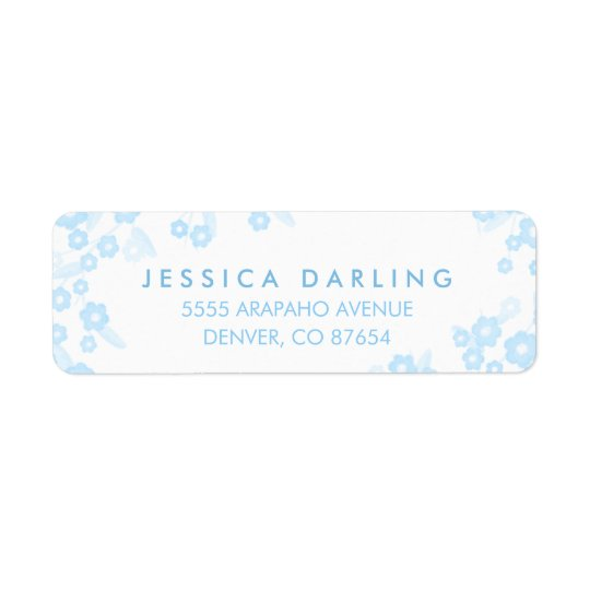 Personalized Return Address Labels | Blue Floral