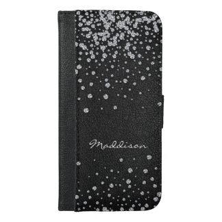 Personalized Rhinestone phone wallet case iphone 6