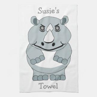 Personalized Rhino Design Kitchen Towel