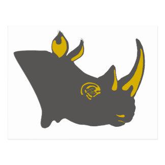 Personalized Rhino Graphic Illustration Postcard