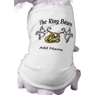Personalized Ring Bearer Gifts Dog Tshirt