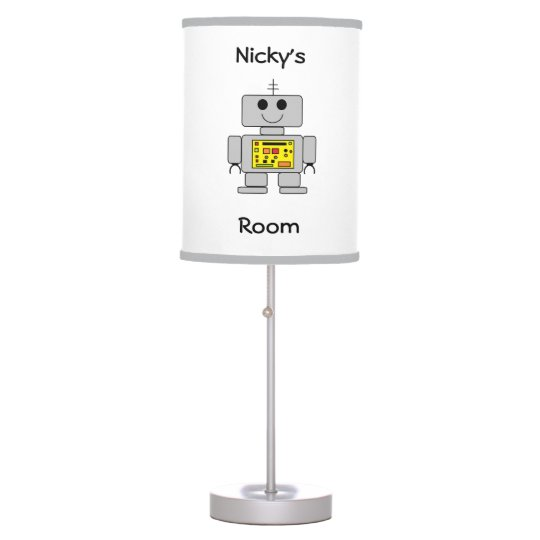 "Personalized ""Robot"" Table Lamp"