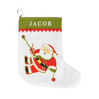 personalized rock climbing large christmas stocking