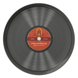 Personalized Rock N Roll Vinyl Record Plate