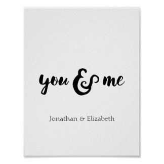 Personalized Romantic Typographical Print
