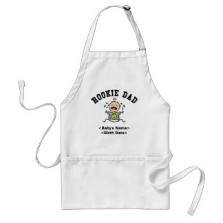 Personalized Rookie Dad Gift Apron