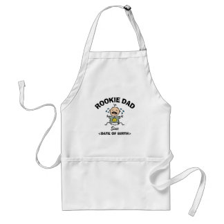 Personalized Rookie Dad Gift Standard Apron