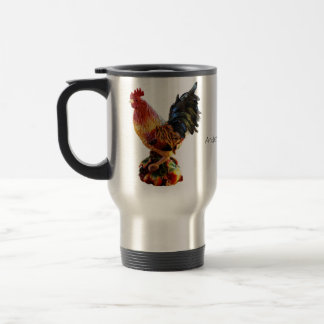 Personalized Rooster Travel Mug