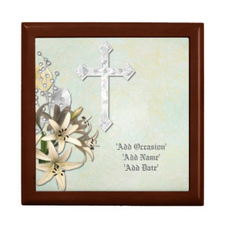 Personalized ROSARY Beads Box - Commemorative Gift