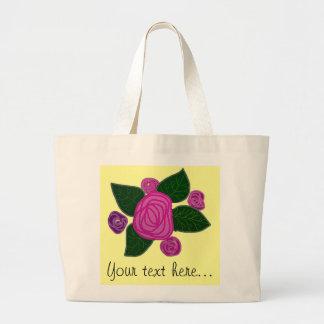 Personalized Rose Design Jumbo Tote