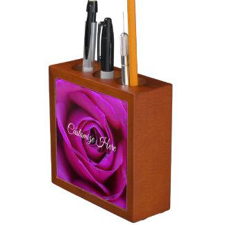 Personalized Rose Desk Organizer