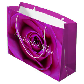 Personalized Rose Gift Bag