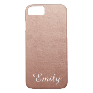 Personalized Rose Gold Foil Photo Effect iPhone 8/7 Case