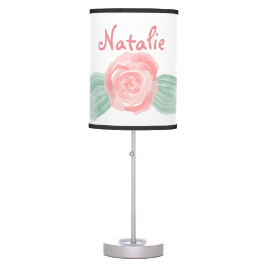 Personalized Rose Lamp