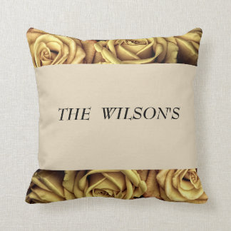 PERSONALIZED ROSE PILLOW
