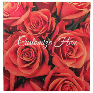Personalized Roses Cloth Napkin