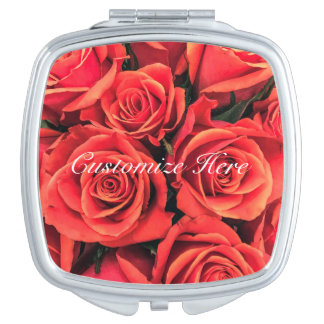 Personalized Roses Compact Mirror