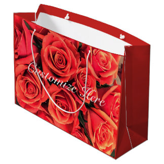 Personalized Roses Gift Bag