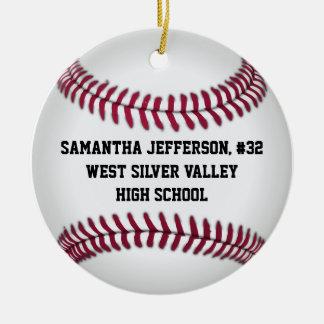 Personalized Round Baseball Sports Ornament