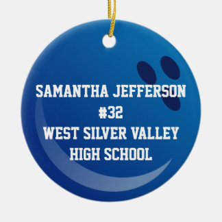 Personalized Round Bowling Ball Sports Ornament