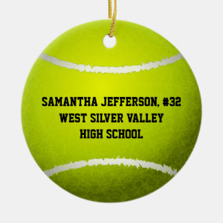 Personalized Round Tennis Ball Sports Ornament