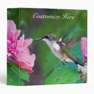 Personalized Ruby Throated Hummingbird Binder