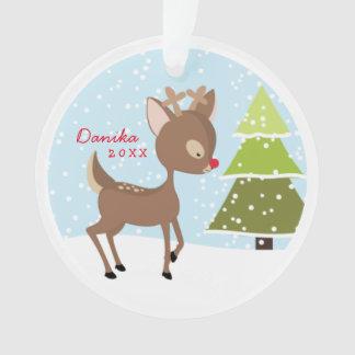 Personalized Rudolph Photo Ornament