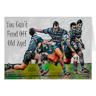 Personalized Rugby Birthday Card